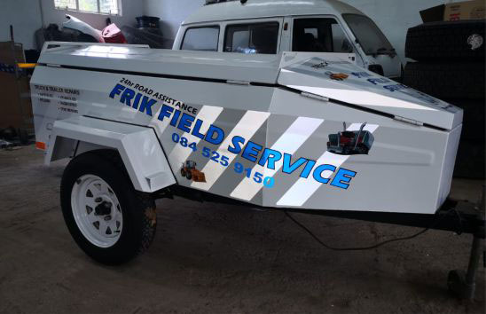 Reflective vinyl on ambulance vehicle